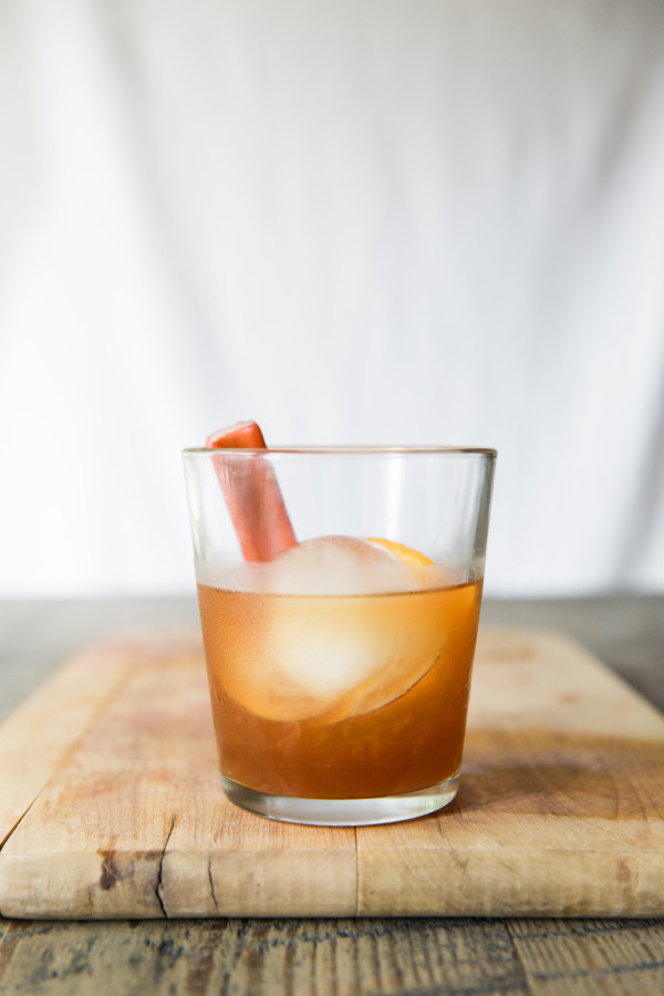 Rhubarb Old Fashioned Cocktail