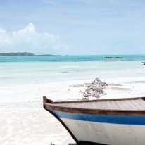 Boat on the beach, Turks and Caicos