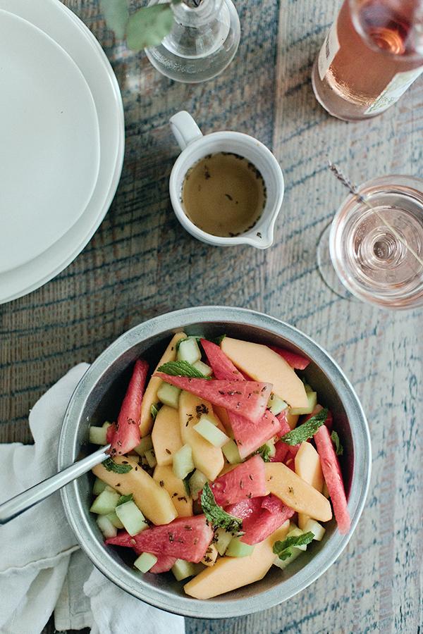 Lavender Ginger Melon Salad