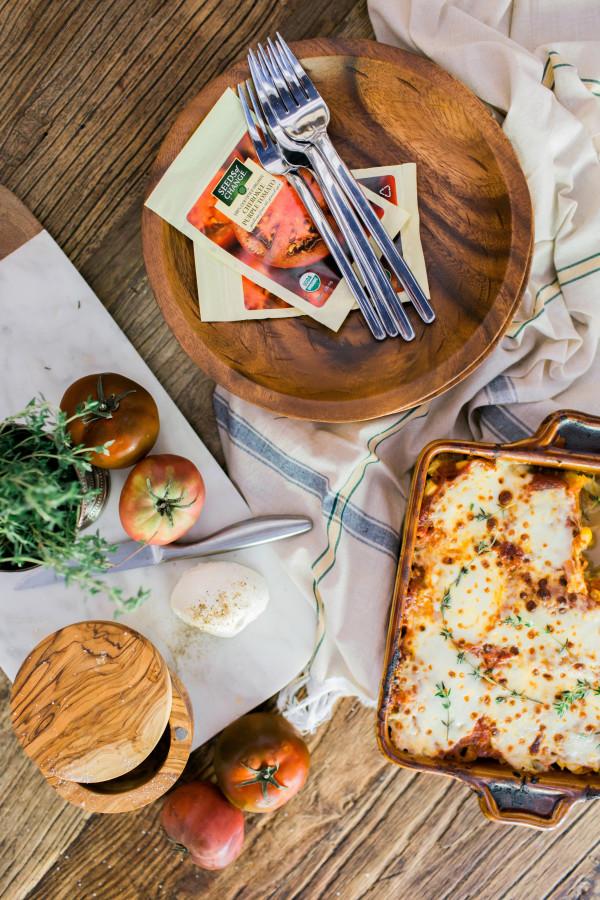 Spaghetti Squash Lasagna with Cherokee Purple Tomatoes recipe