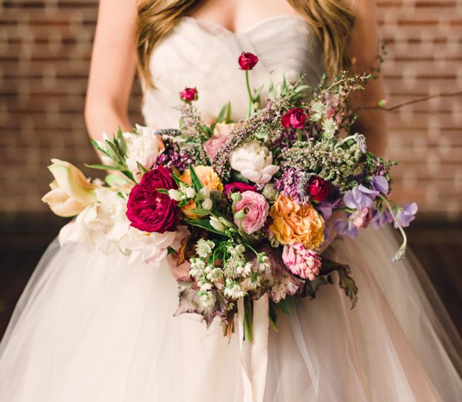 Pretty bridal bouquet by Lindsay Coletta Designs, Rustic White Photography