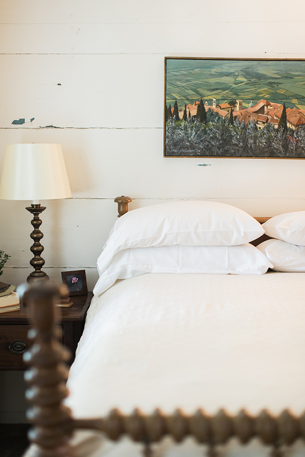 Rustic bedroom details while visiting Athens, GA | Waiting on Martha