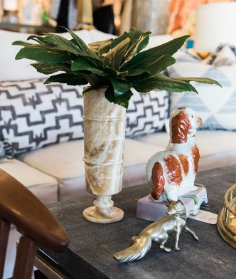 Great decor details (love Staffordshire Dogs!)   Waiting on Martha