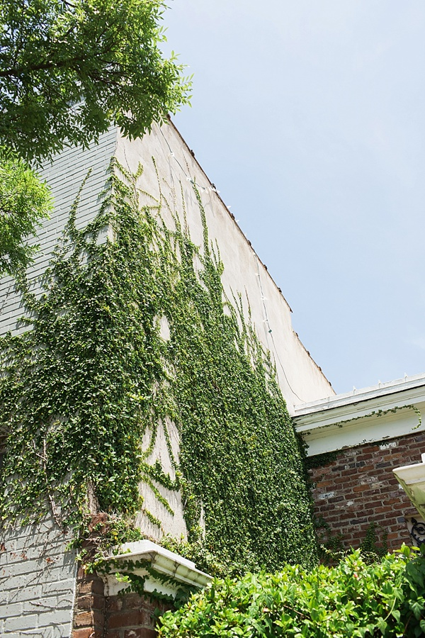 Ivy covered buildings, Waiting on Martha