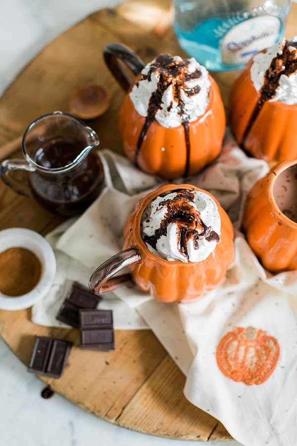 Spiked Mexican Hot Chocolate Halloween Cocktail recipe via Waiting on Martha