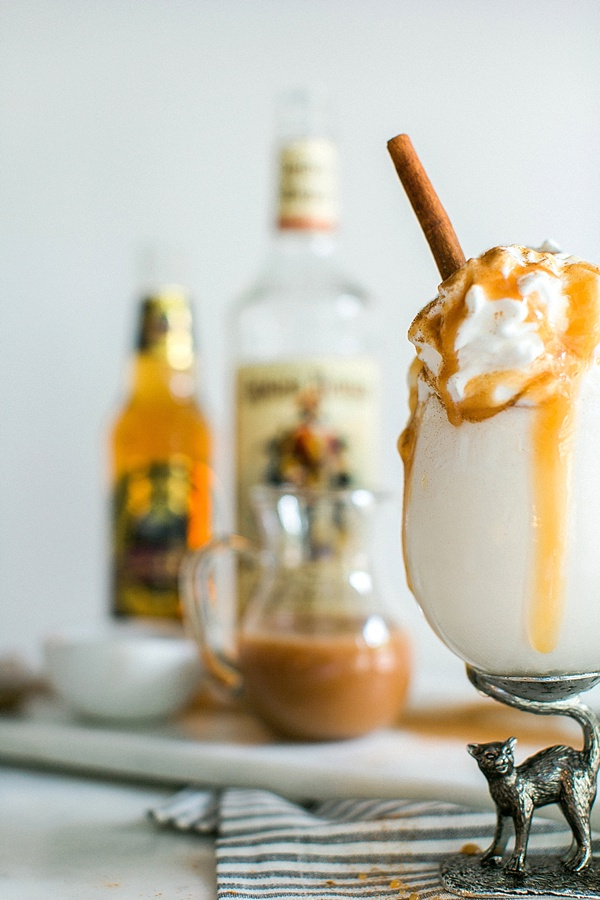 Homemade boozy butterbeer recipe via Waiting on Martha