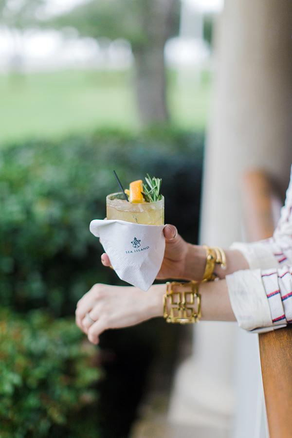 A cocktail on Sea Island, Waiting on Martha