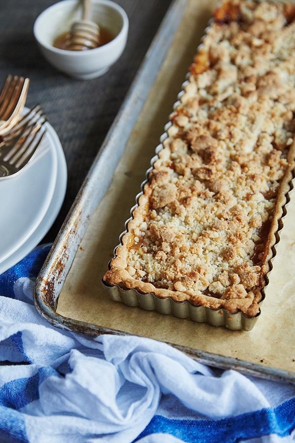 Pear and Apple Crumb Tart recipe via Waiting on Martha