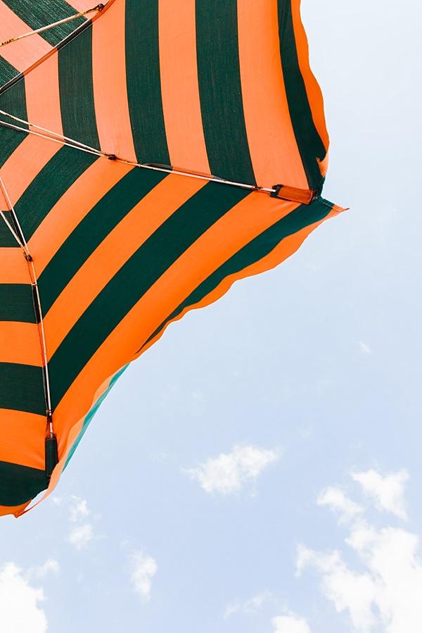 Striped umbrellas in Italy