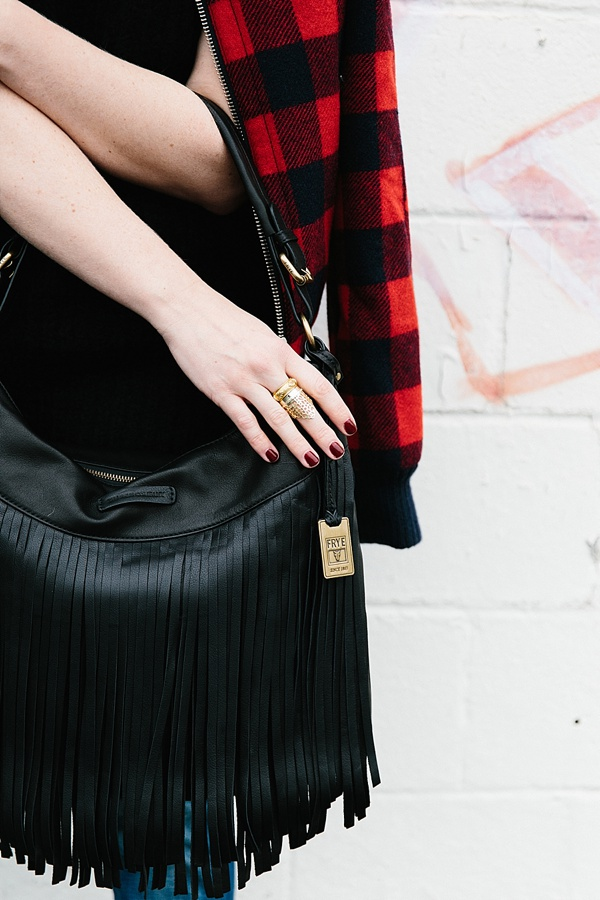 Black fringe bag from The Frye Company via Waiting on Martha