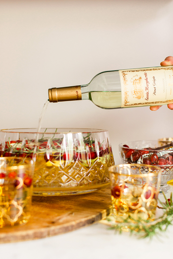 Holiday Sparkling Sangria with Pinot Grigio
