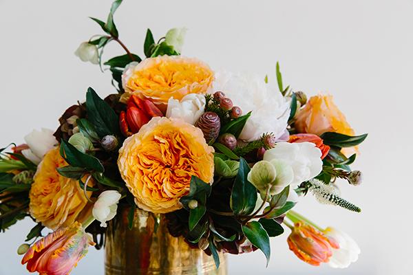 Wintery floral arrangement via Waiting on Martha