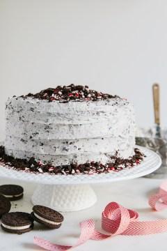 Chocolate ganache oreo cake via Waiting on Martha