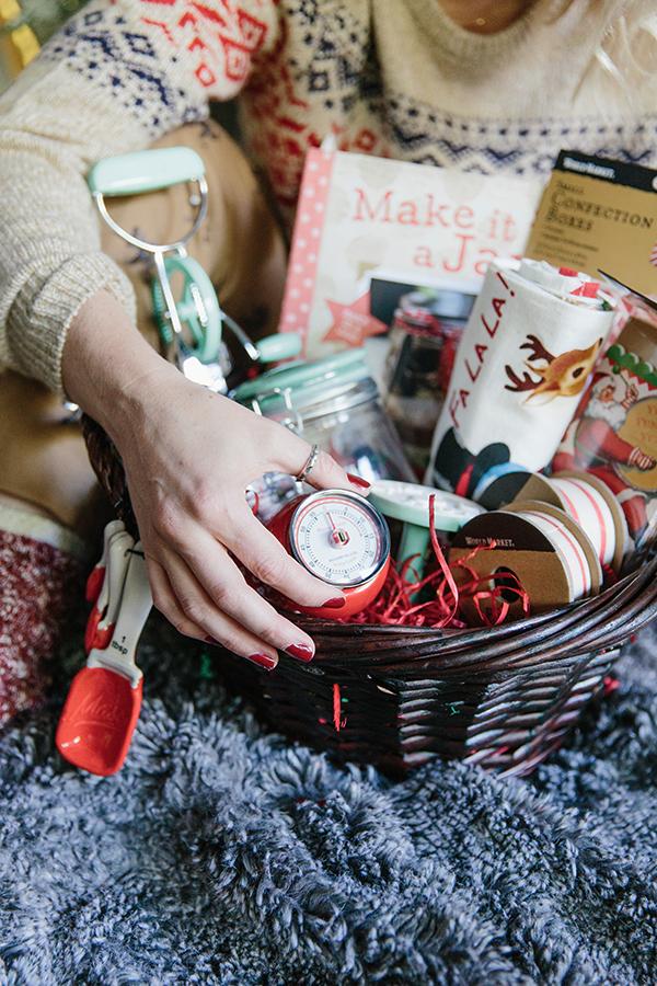Holiday gift basket ideas via Waiting on Martha