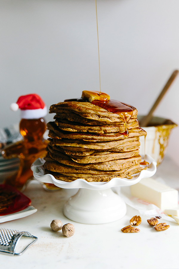 Gingerbread Pancakes on Christmas Morning
