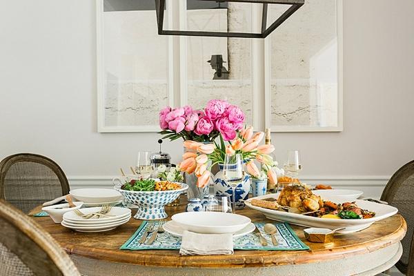 Weeknight dinner table inspiration via Waiting on Martha