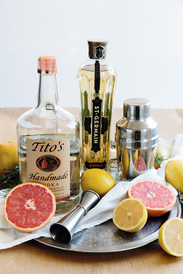 Grapefruit vodka cocktail with St. Germain