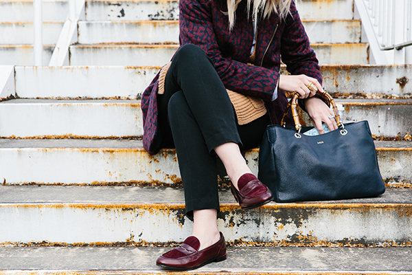 Outfit with Penny Loafers via Waiting on Martha