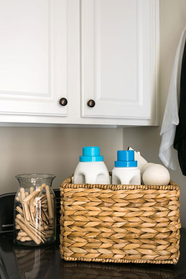 Laundry room organization via Waiting on Martha