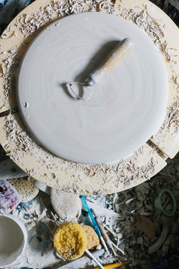 Handmade small batch ceramics studio via Waiting on Martha