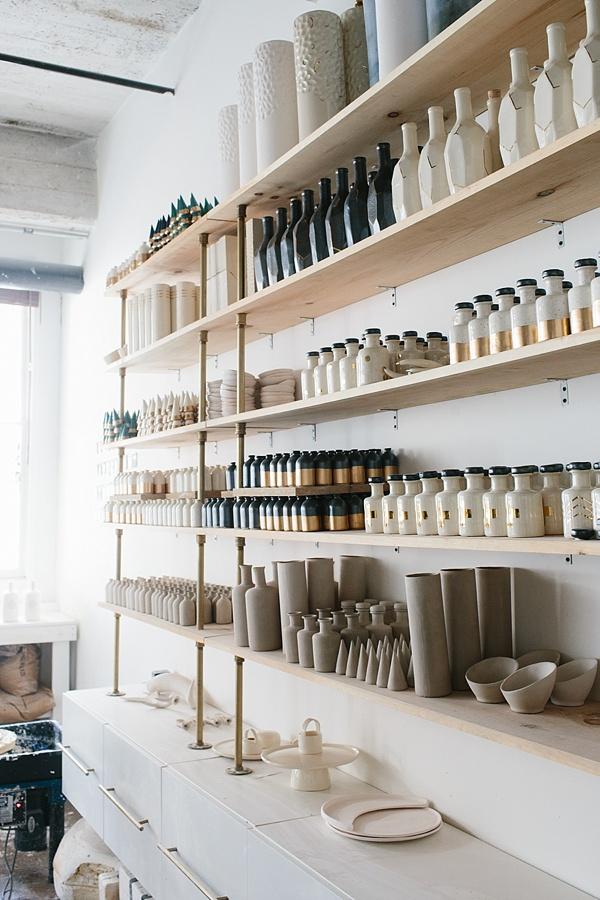 Homemade ceramics studio tour via Waiting on Martha