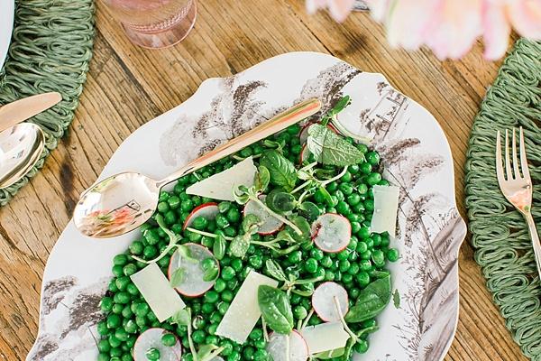 Sweet pea salad via Waiting on Martha