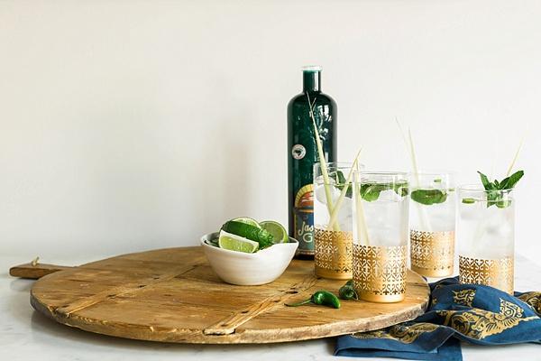 Lemongrass Gin Fizz Cocktail recipe | waitingonmartha.com