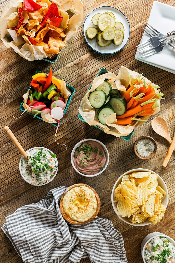 Healthy homemade dips, including vegan onion & spinach dip Waiting on Martha