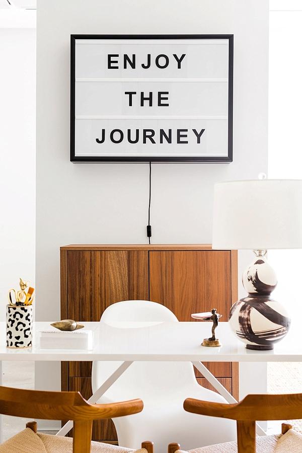 Enjoy the journey lightbox sign, Waiting on Martha