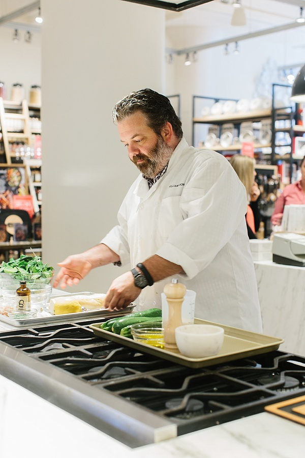 At Williams-Sonoma cooking with It's All Easy