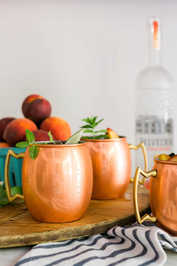 Peach Moscow Mule recipe, Waiting on Martha
