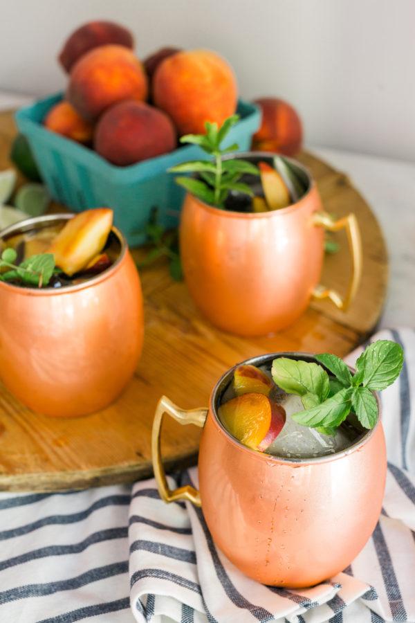 A fresh Georgia peach moscow mule recipe, Waiting on Martha