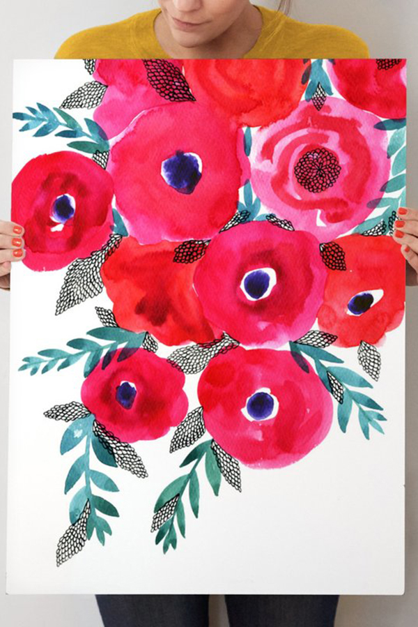 """Red Flowers Bouquet"""