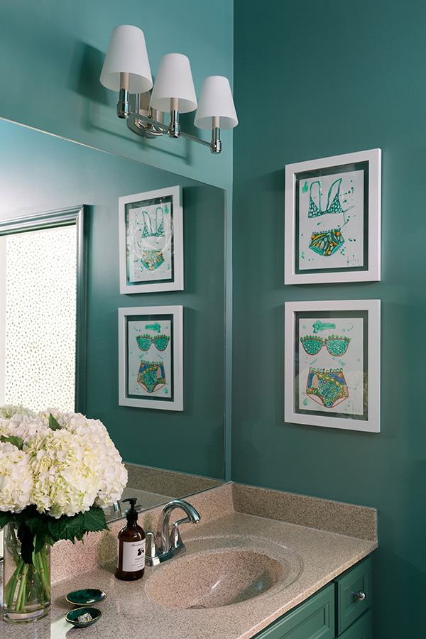 A Bold Bathroom Makeover With Behr Paint Welcome By Waiting On Martha