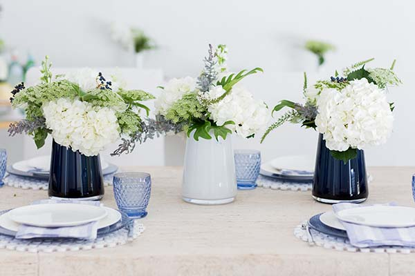 Blue tabletop inspiration, Waiting on Martha