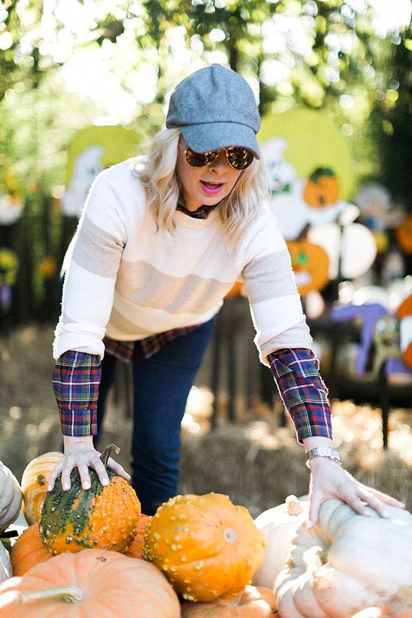 Picking pumpkins with @waitingonmartha @jmclaughlin #spon #holiday #pumpkins