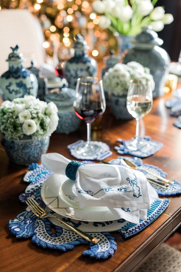 Blue & White tabletop decor, Waiting On Martha