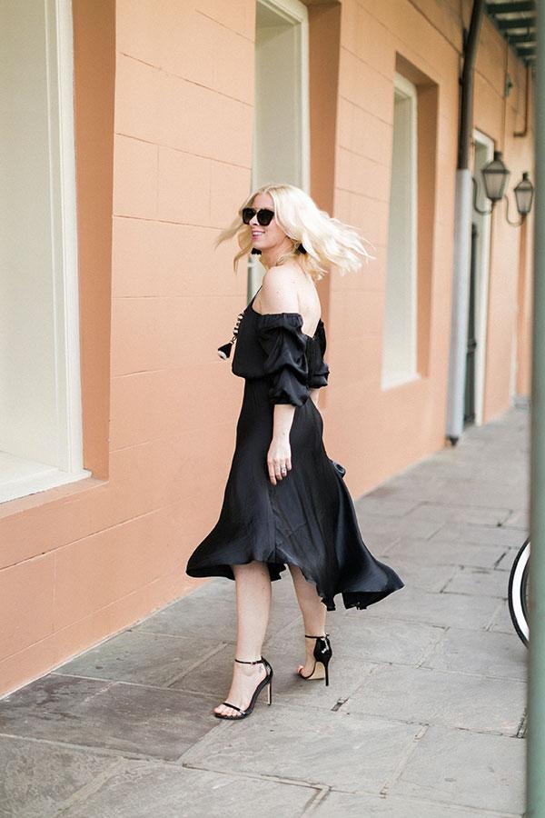 Affordable black off the shoulder dress, waitingonmartha.com