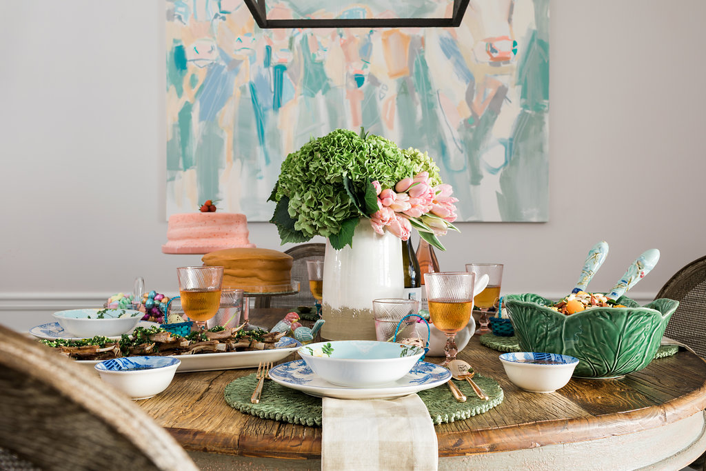 Easter tablescape inspiration via waitingonmartha.com