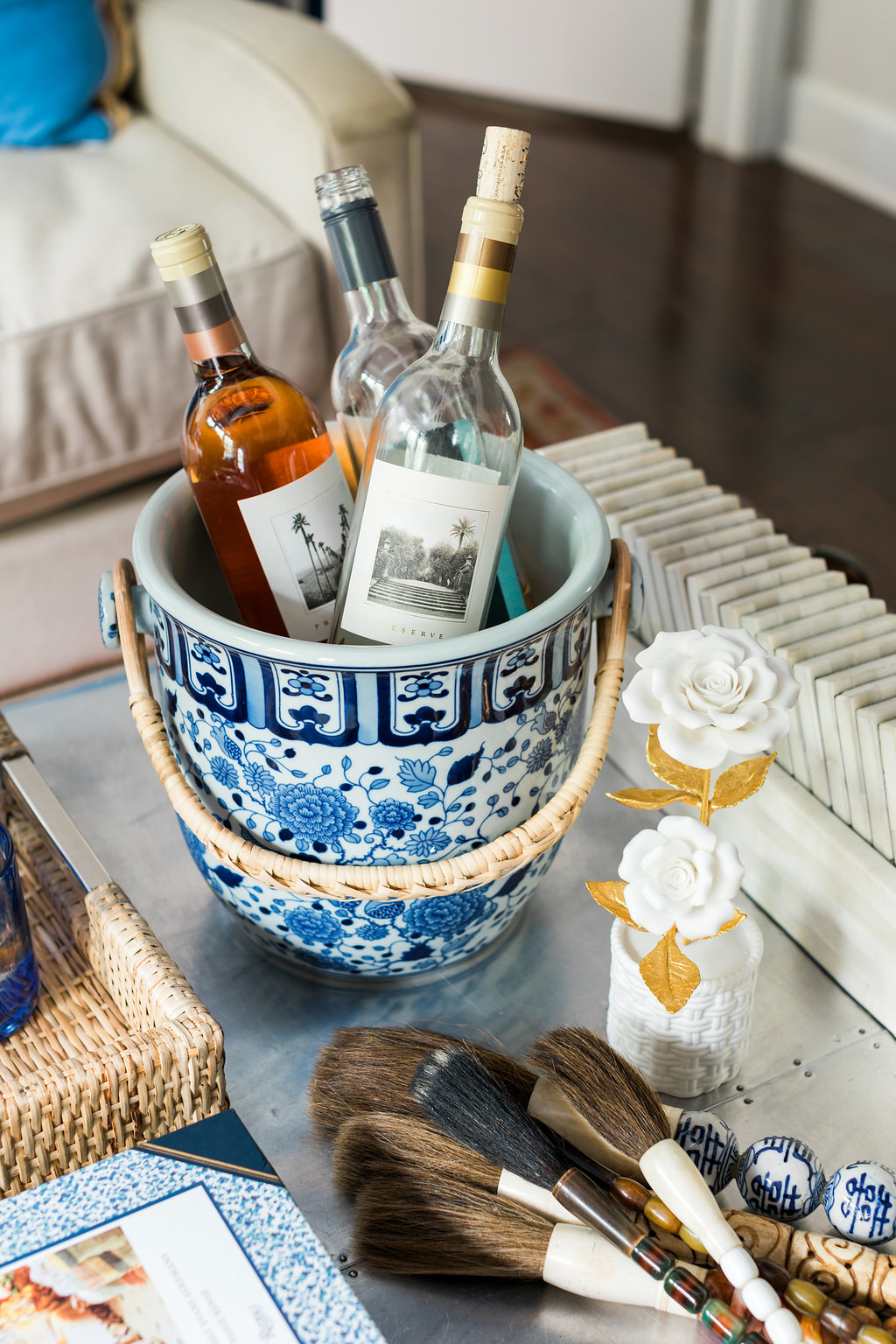 Ginger jar champagne bucket, Waiting on Martha