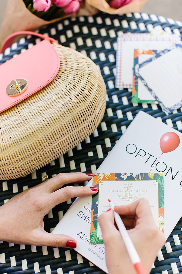 Wicker bag and Talbots Book Club