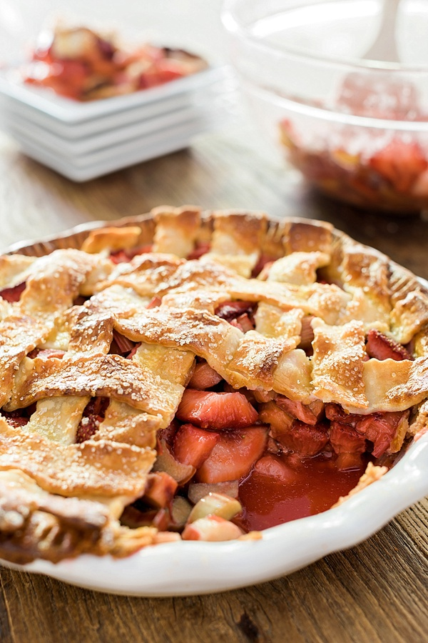 A Homemade Strawberry Rhubarb Pie Recipe, Waiting On Martha