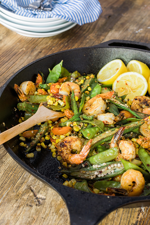 Blackened Skillet Shrimp #recipe | Waiting on Martha