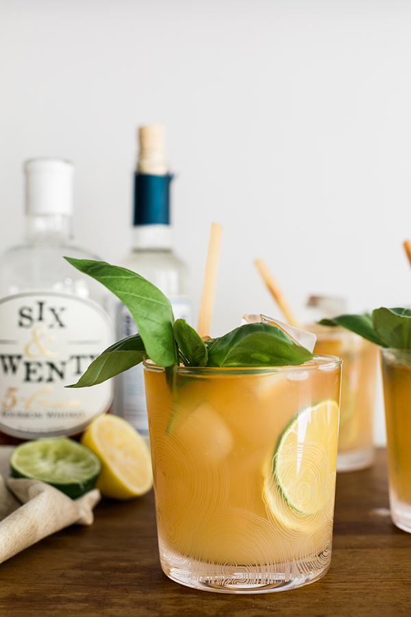 The Citrus Bourbon Smash recipe on Waiting on Martha