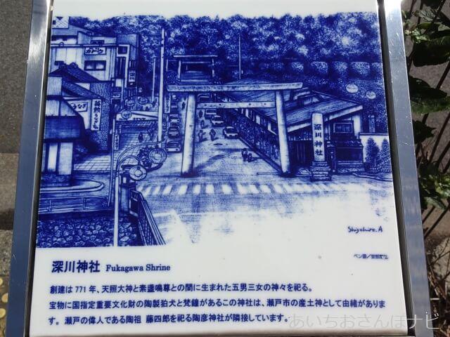 瀬戸市深川神社の案内板