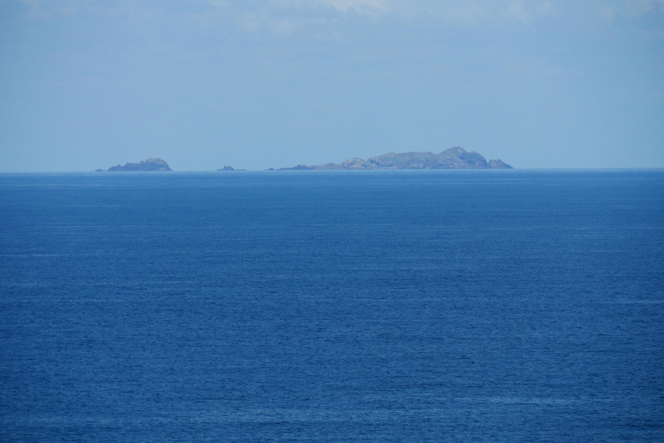 七ツ島 望遠レンズで撮影!