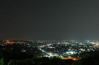 八ツ面山展望台 夜景