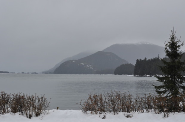 Looking across Auke Bay from St Terese Chapel