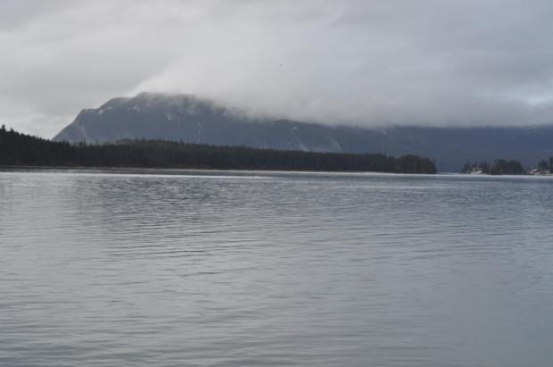 Looking across Auke Bay from the Douglas side
