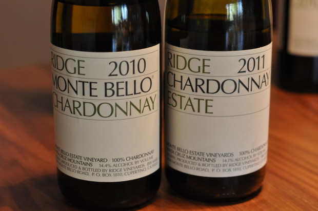 The upcoming Ridge chardonnays